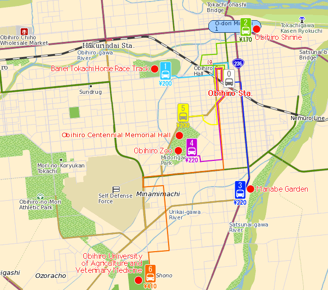 Obihiro City Map