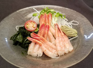 Sweet shrimp sashimi