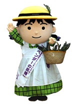 Mascot of Nakafurano-cho, the Lavender Fairy