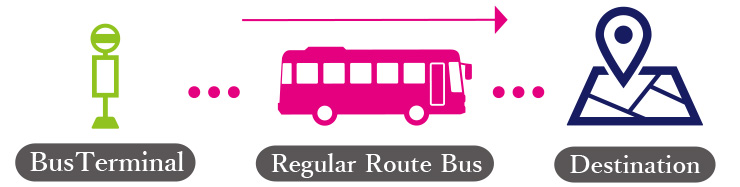 regular route buses