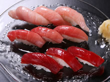 Tuna all : set of fat under-belly, medium-fatty, lean meat