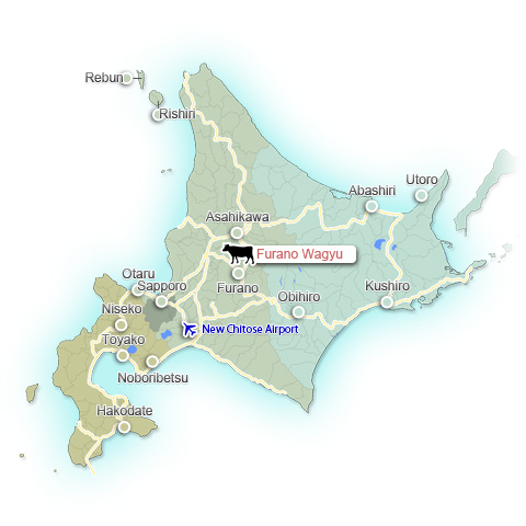 Furano Wagyu Map